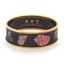 Halcyon Days Wide Shell Bangles