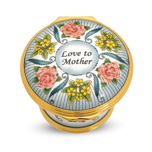Halcyon Days 2018 Mother's Day Enamel Box