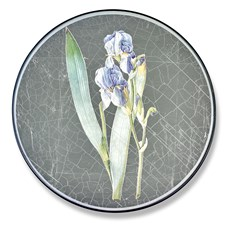 Silver Round Placemats, Iris