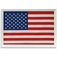 Framed Needlepoint American Flag