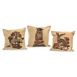 Library Animal Tapestry Pillows