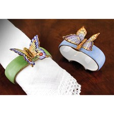 Anna Weatherley Porcelain Butterfly Napkin Rings