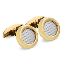 18k Yellow Gold Round Cufflinks