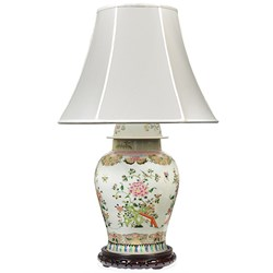 Chinoisery Floral Multicolored Table Lamp