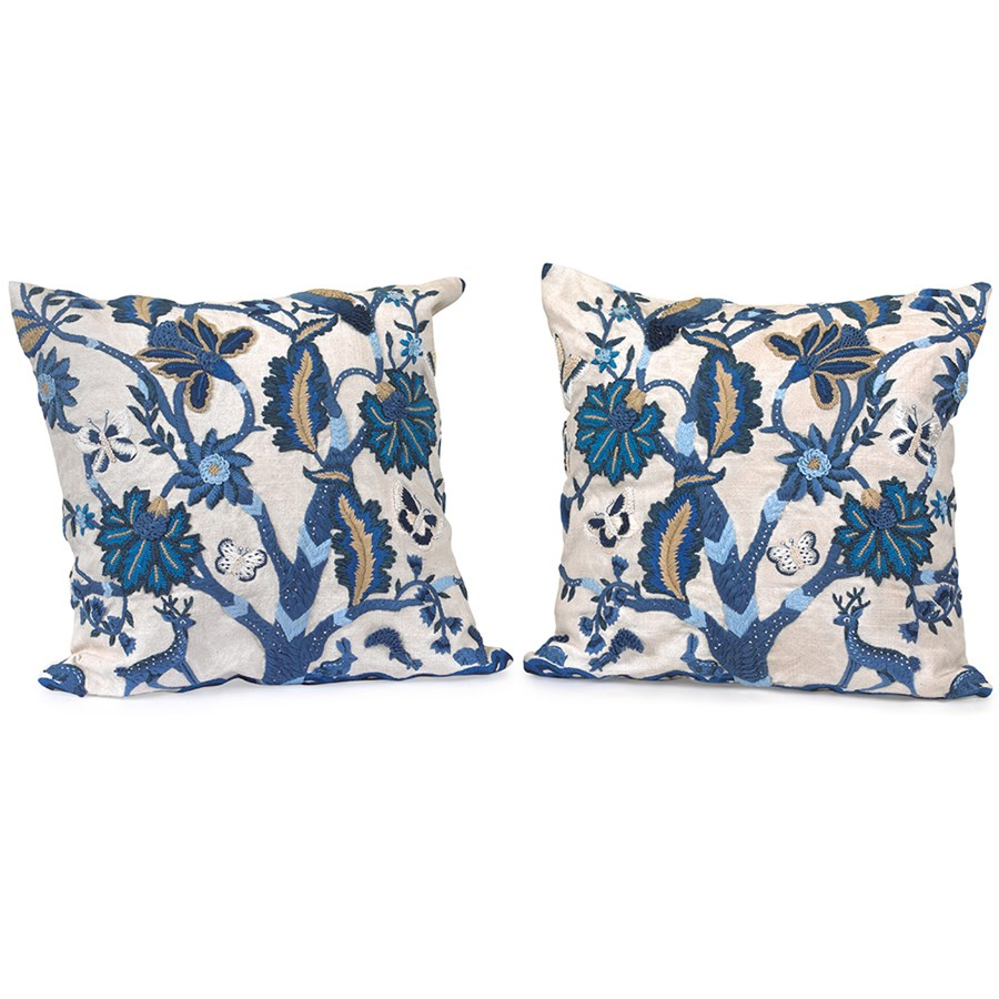 Blue tree of life pillows pillows home decor accessories home decor - Blue home decor accessories ...