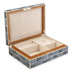 Shagreen & Agate Quilt Jewelry Box