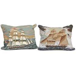 Ship Needlepoint Pillows