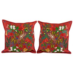 Climbing Monkey Pillows, Red