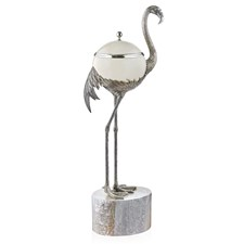 Silverplated Flamingo Ostrich Egg Box