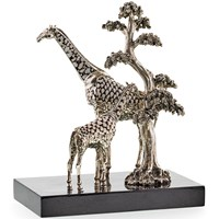 Two Giraffes with Shells Sculpture