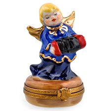 Blue Angel with Accordion Limoges Box