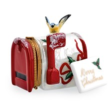 Holly Mailbox with Letter Christmas Limoges Box