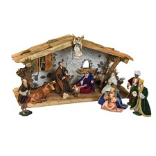 Wooden Crèche, 13 Piece Set