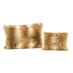 Faux Fur Wolf Pillows