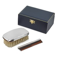 Sterling Silver Military Squared Brush Set