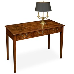 Burr Elm Writing/Dressing Table