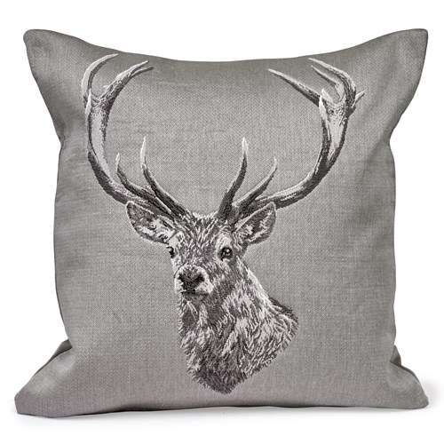Country Stag Tapestry Pillow