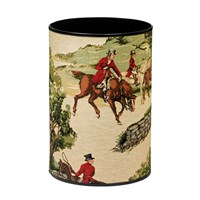 The English Hunt Tapestry Wastebasket