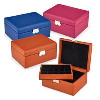 Italian Leather Saffiano Jewelry Boxes
