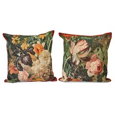 Tulip and Iris Tapestry Pillows