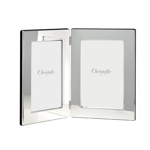 Christofle Fidelio Silverplated Double Frame