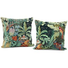 Jungle Birds Tapestry Pillows