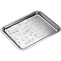Christofle Graffiti Silver Plated Rectangular Trays