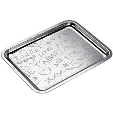 Christofle Graffiti Silverplated Rectangular Trays