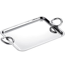 Christofle Vertigo Silver Plated Trays