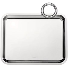 Christofle Vertigo Silver Plated Single Handle Tray