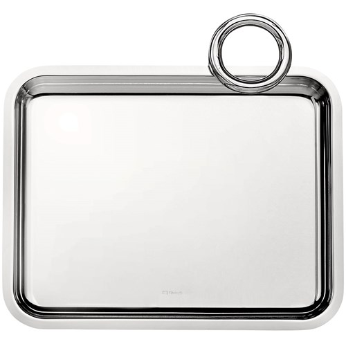 Christofle Vertigo Silverplated Single Handle Tray
