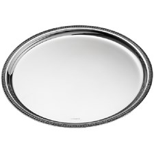 Christofle Malmaison Round Trays