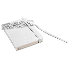 Christofle White Moleskine & Reindeer Silverplated Bookmark Set