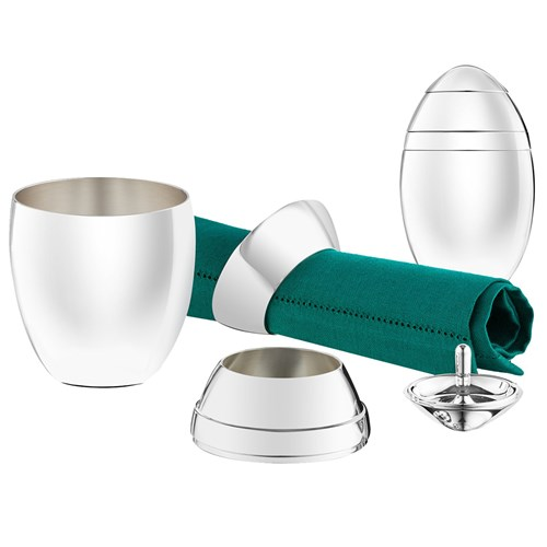 Christofle Oeuf Silver Plated Baby Gift Set