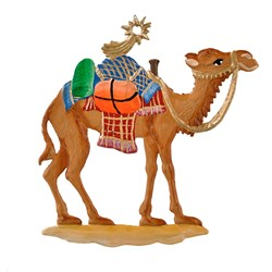 Pewter Christmas Camel Ornament