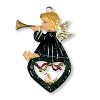 Pewter Angel with Heart Ornament
