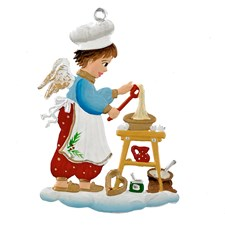 Pewter Baking Angel Ornament