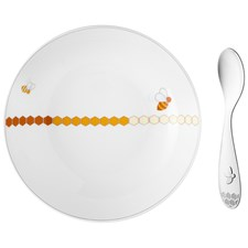 Christofle Beebee Cereal Bowl & Spoon Set
