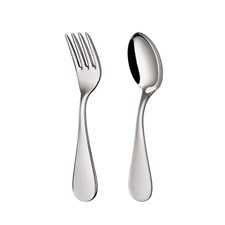 Christofle Uni Sterling Silver Two-Piece Baby Flatware Set