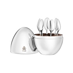 Christofle Mood Set of 6 Espresso Spoons In Chest