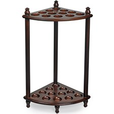 Mahogany Triangle Umbrella Stand