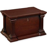Mahogany Column Storage Box