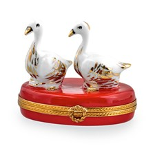 Two Geese Christmas Limoges Box