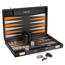 Tournament Carbon Fiber Backgammon Set