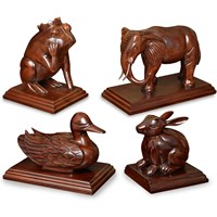 Mahogany Sculptures/Doorstops