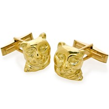 18K Yellow Gold Safari Panther Cufflinks