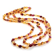 Citrine, Tourmaline, & Garnet Bead Necklace