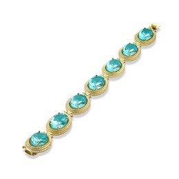 Blue Topaz Twist Rope Bracelet