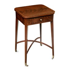 Crotch Mahogany Side Table