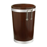Royal Mahogany Wastebasket